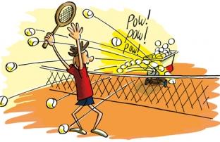 Tennisles op vrijdag