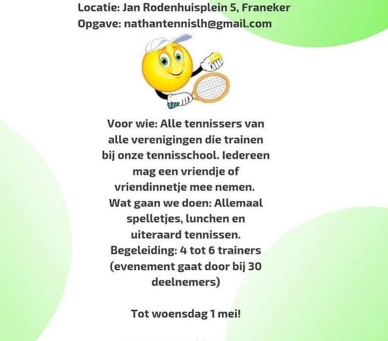 Tennisdag te Franeker voor jeugdleden t/m 12 jaar