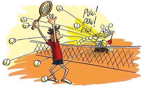 Tennisles maandag en vrijdag