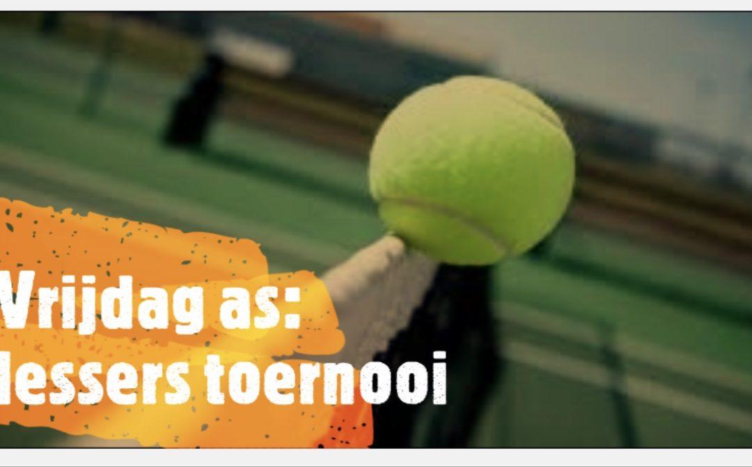 Toernooi voor alle deelnemers tennisles