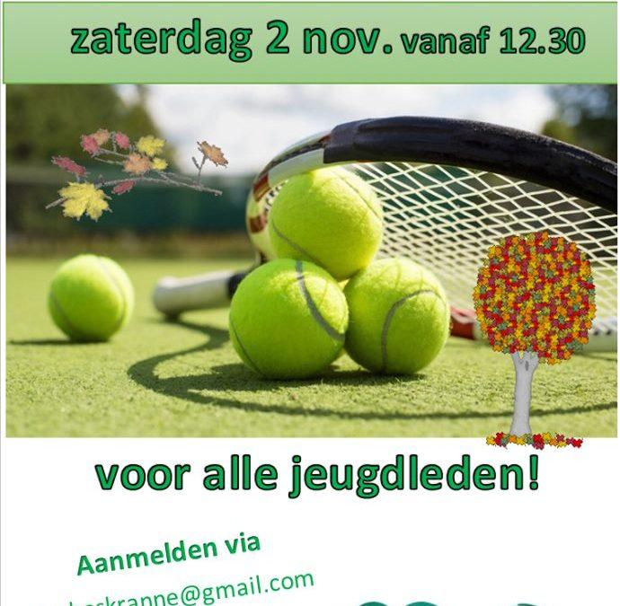 Herfsttoernooi voor jeugd op zaterdag 2 november