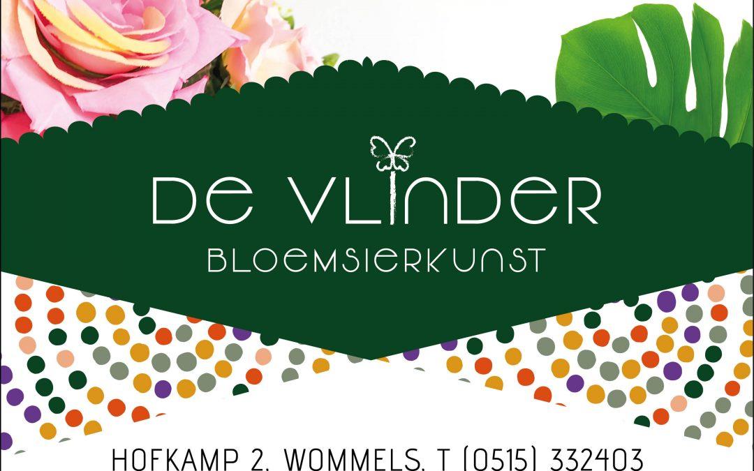Nieuwe sponsor: De Vlinder Bloemsierkunst