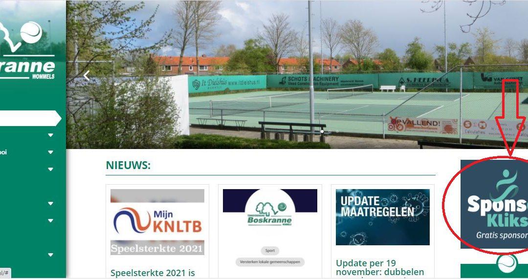 Sponsorkliks: Online bestellen en Boskranne sponsoren