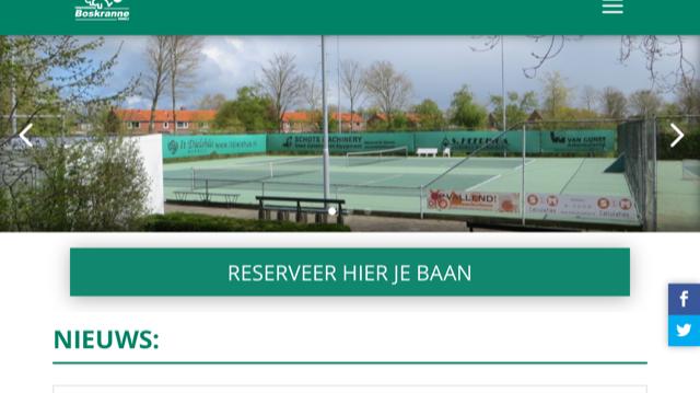 Vrijdag 26 februari geen tennisles, vrij tennis wel mogelijk: wel even reserveren.