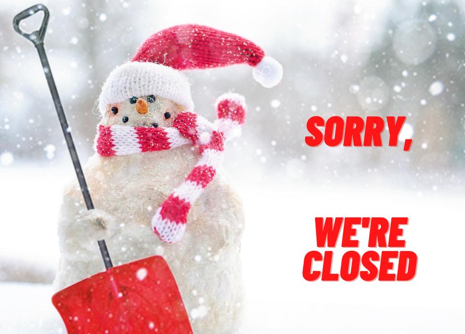 In verband met het winterweer is de tennisbaan helaas tot nader bericht gesloten