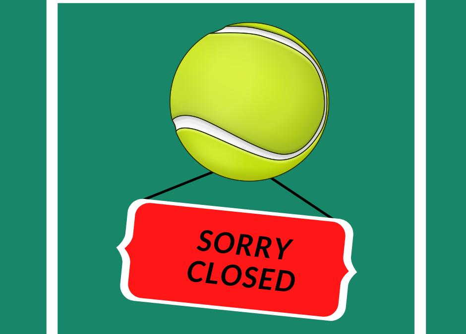 Tennisbanen dicht op 4 en 11 augustus